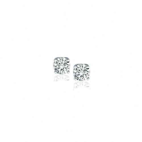 14k White Gold Diamond Four Prong Stud Earrings (1/4 cttw)