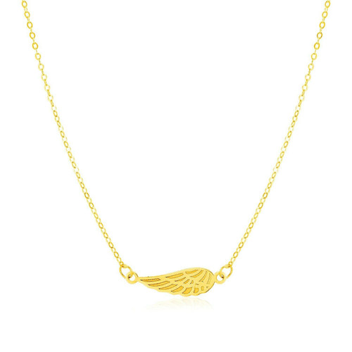14K Yellow Gold Angel Wing Necklace