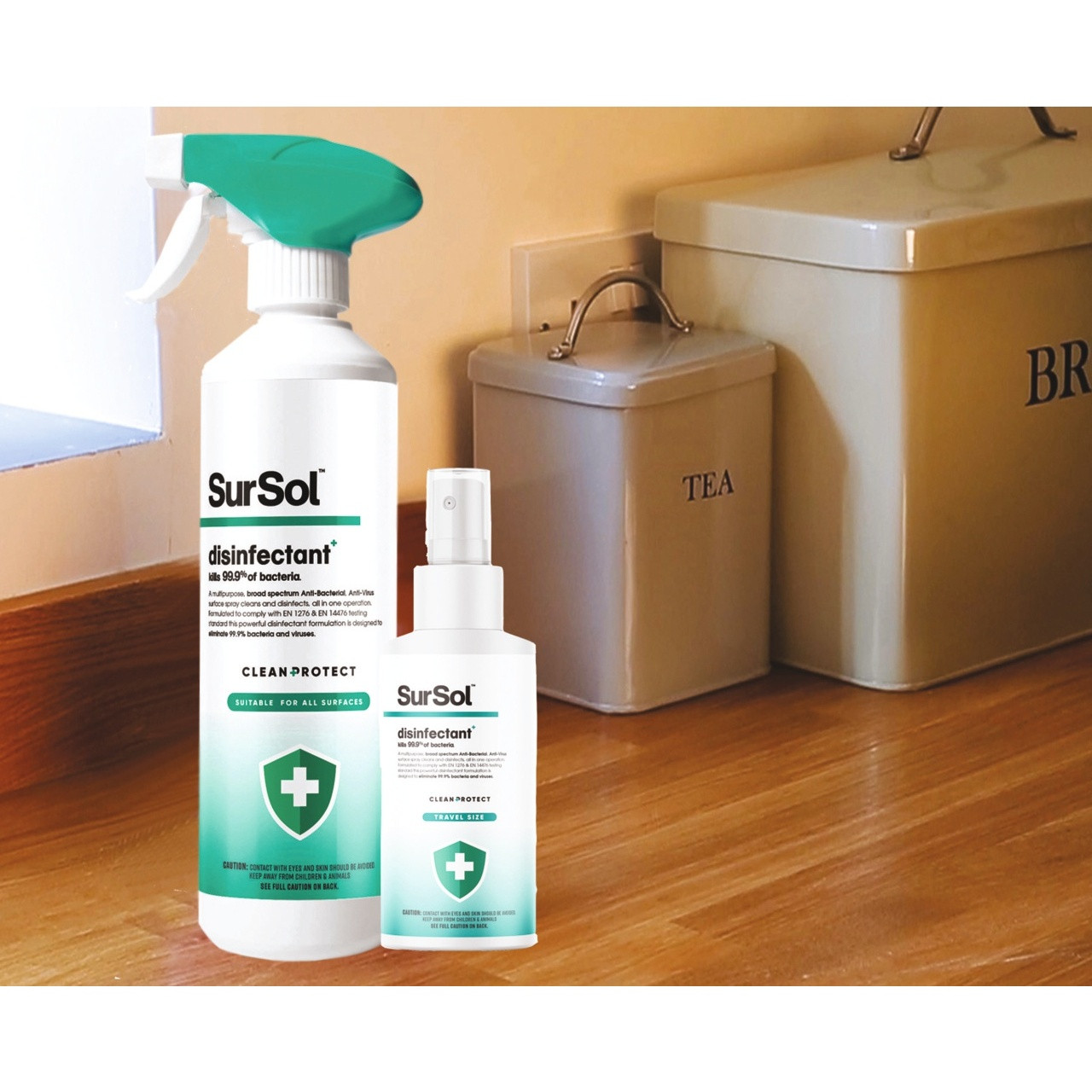 SurSol™ Antibacterial Disinfectant Surface Spray – Duo Spray Pack