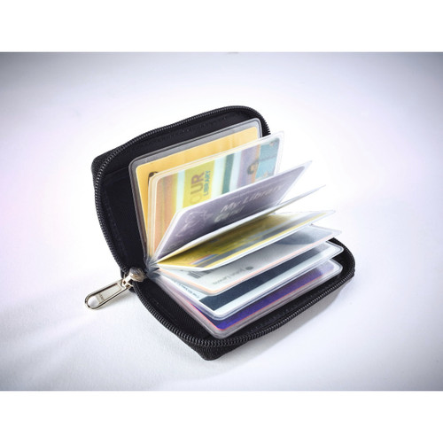 Skimguard Leather Credit Card Holder