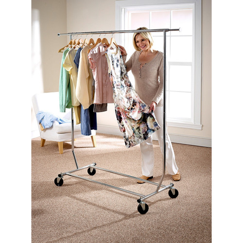 Folding Garment Rack with FREE Cover