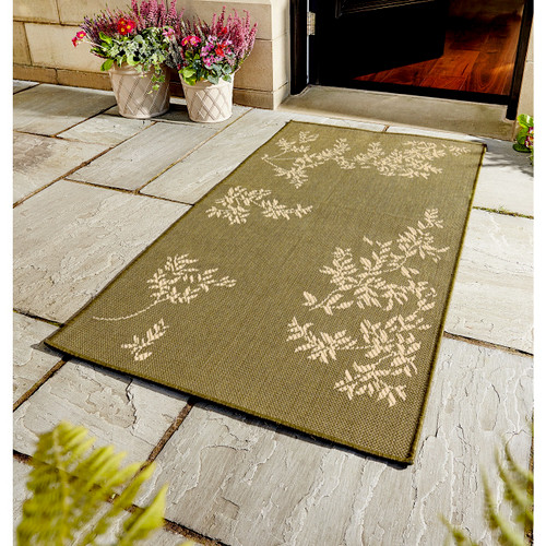 Garden Leaves Outdoor Rug
