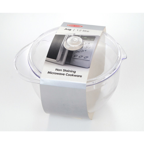 Clear Stain-Proof Microwaveable Plastic Jug with Lid