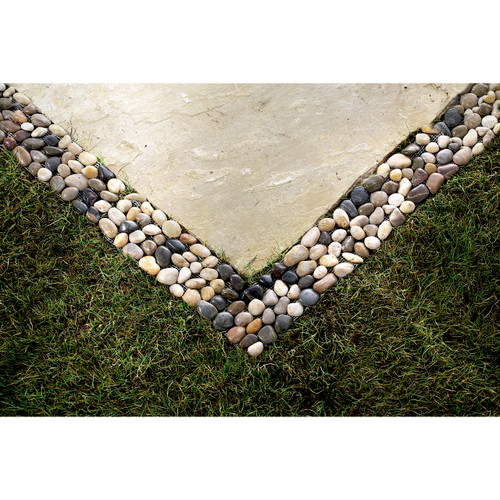 River Pebbles Border Edging - Set of 4