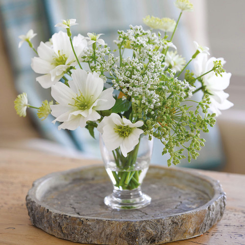 White Cottage Garden Arrangement