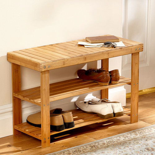 Bamboo Shoe Stand