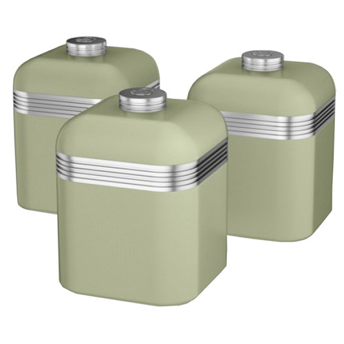 Set of 3 Swan Retro Storage Tins