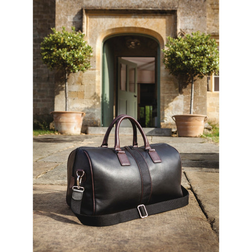 Luxury Leather Weekend Holdall