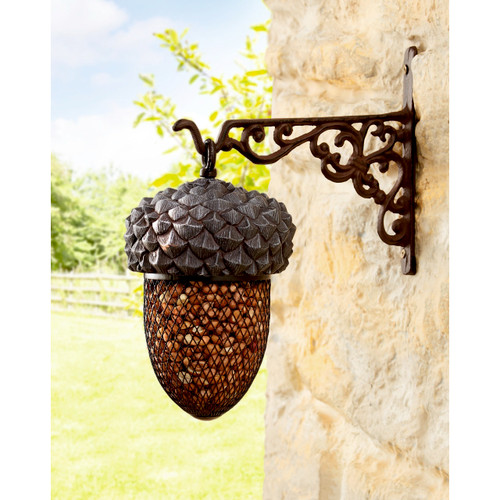 Metal Acorn Bird Feeder