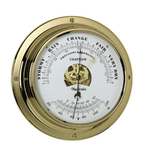 Brass Chatham Wall Barometer with QuickFix