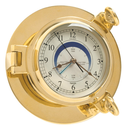 Brass Cabin Tide Wall Clock
