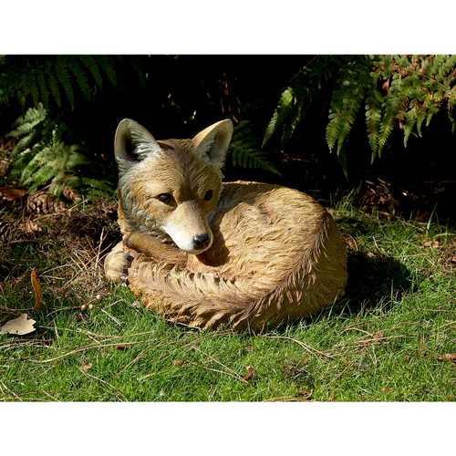 Resting Fox Garden Ornament