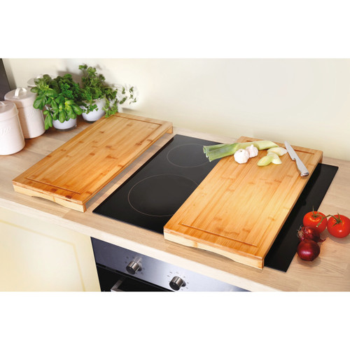 Bamboo Hob Protection Cutting Boards - Set of 2