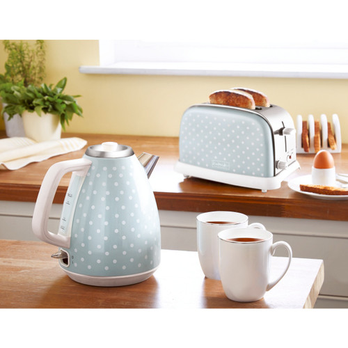 Polka Dot Rapid Boil Kettle and Toaster Set