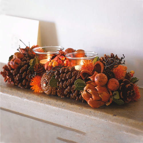 Autumn Dried Candle Holder