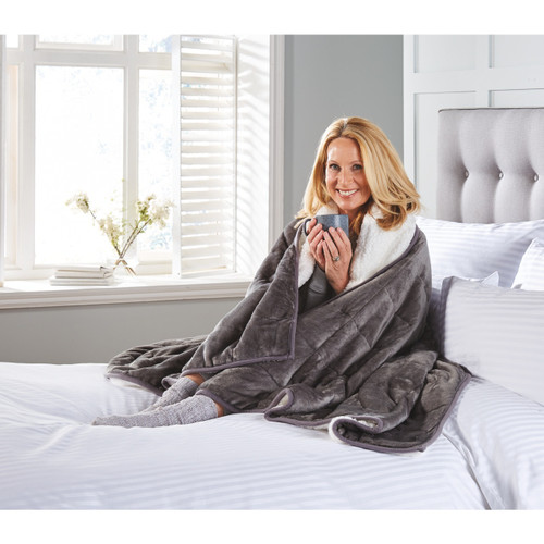 Weighted Blanket with Sherpa Fleece Reverse