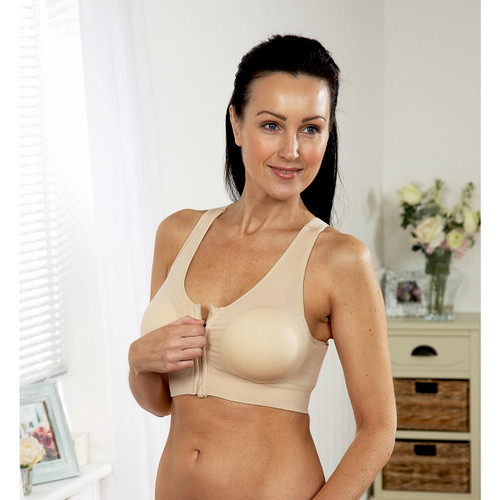 Pack of Two Zip-Front Bras