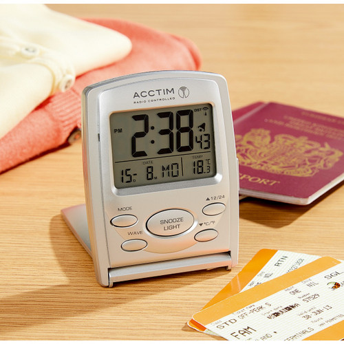 Radio Controlled Travel Alarm Clock