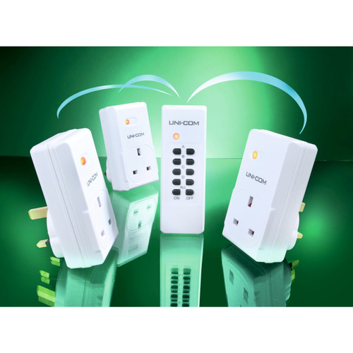 Remote Control Mains Socket Adaptors - Set of 3