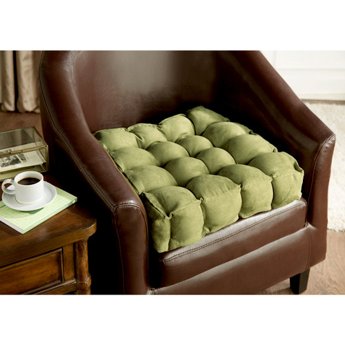 Luxury Faux Suede Armchair Booster Cushion