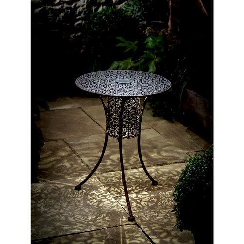 Filigree Solar Garden Table