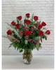 One Dozen Premium Vased Roses