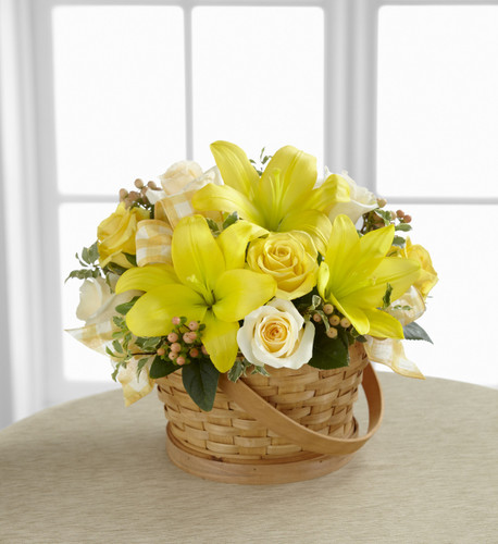 The FlowerLoft's Sunny Surprise Basket
