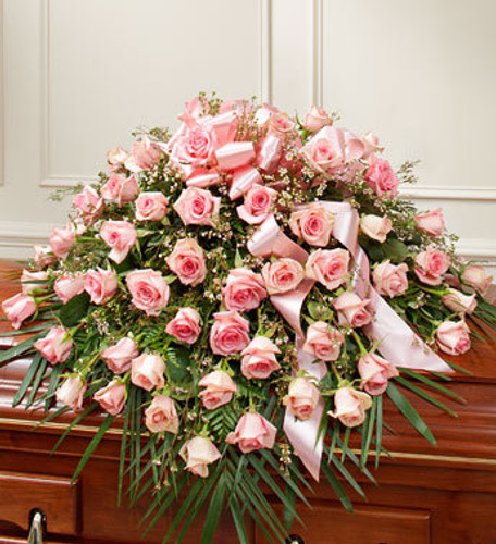 Pink Rose Half Casket Spray