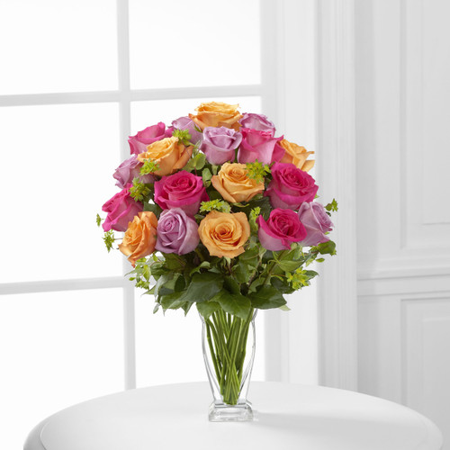 The Flowerloft's Pure Enchantment Rose Bouquet
