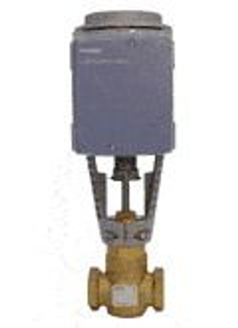 Siemens 274-03168, Valve Assembly: 2-Way, NO, 1-1/4-inch, 16 CV, Equal Percentage, Brass Trim, FxF, Proportional Control, Electro-Hydraulic Actuator, Spring Return