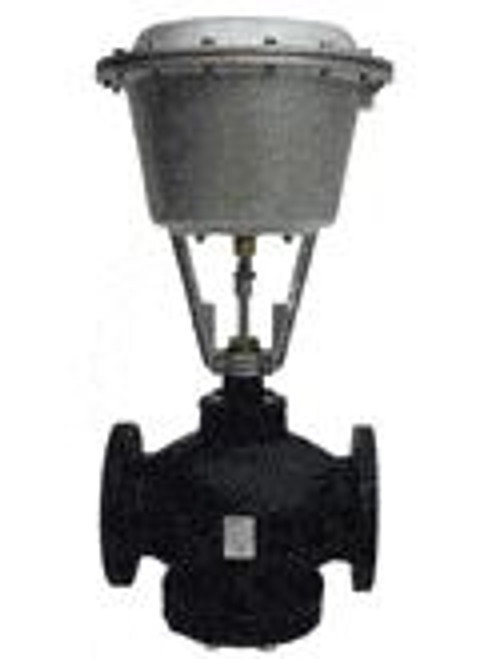 Siemens 281-06134, Valve Assembly: High Temp, 2-Way, NC, 6-inch, 400 CV, Linear, Stainless Steel Trim, Flanged, 12-inch Pneumatic Actuator