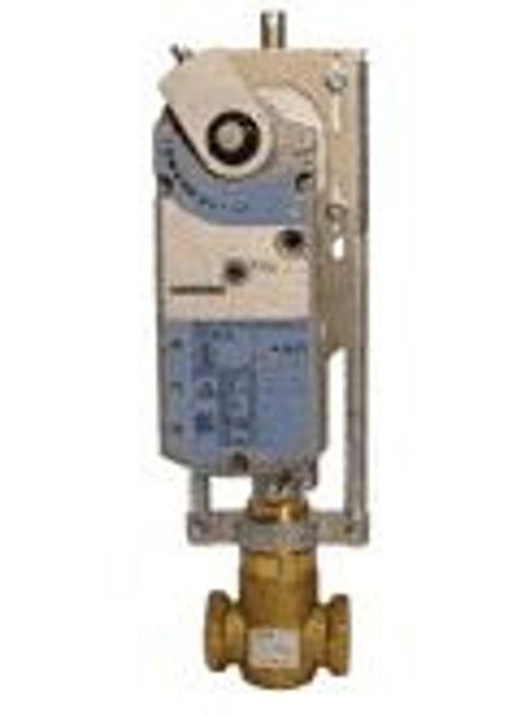 Siemens 298-03187, Valve Assembly: 2-Way, NC, 1-1/2-inch, 25 CV, Equal Percentage, Brass Trim, FxF, 0-10 Vdc Modulating Control, Electronic Actuator, Spring Return