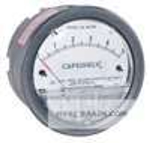 "Dwyer Instruments 4001, Differential pressure gage, range 0-10"" wc, for vertical scale position only"