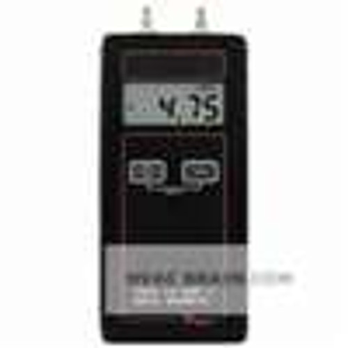 "Dwyer Instruments 475-000-FM, Handheld digital manometer, range 0-1000"" wc (2491 kPa), max pressure 5 psig"
