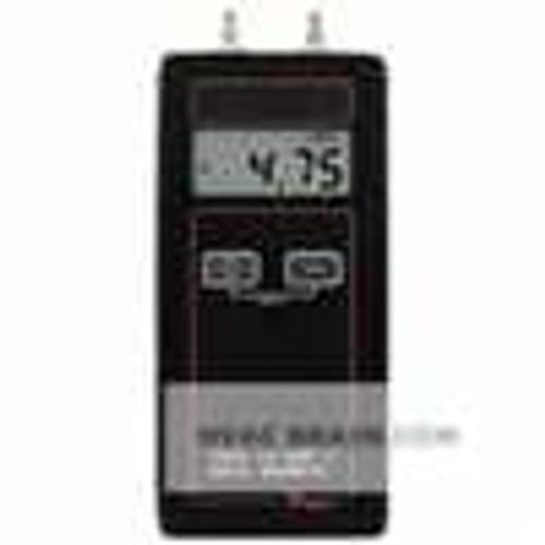 "Dwyer Instruments 475-1-FM, Handheld digital manometer, range 0-2000"" wc (4982 kPa), max pressure 10 psig"