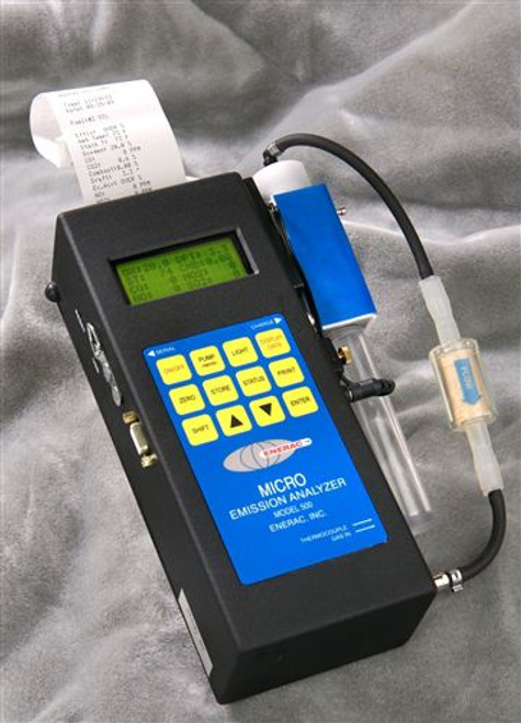 Enerac 500-6 Handheld Combustion Analyzer with O2/CO/NO/Temp/Draft/Combustibles