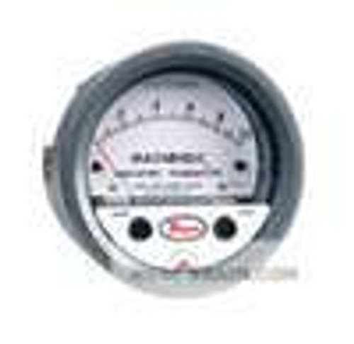 """Dwyer Instruments 605-50, Differential pressure indicating transmitter, range 0-50"""" wc, max pressure 11 psi (758 kPa),  ±05% electrical accuracy,  ±2% mechanical accuracy"""