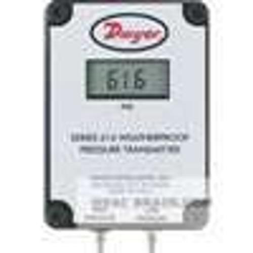 "Dwyer Instruments 616W-20B-LCD, Differential pressure transmitter, range 10-0-10"" wc, max pressure 11 psig"