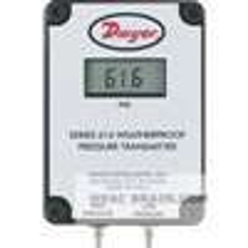 "Dwyer Instruments 616W-4-LCD, Differential pressure transmitter, range 0-20"" wc, max pressure 11 psig"