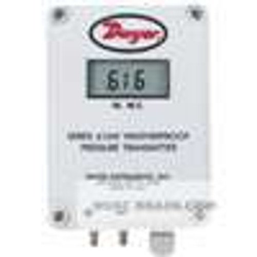 Dwyer Instruments 616WL-22-LCD, Differential pressure transmitter, range 0-60 Pa, NEMA 4X housing, with LCD display