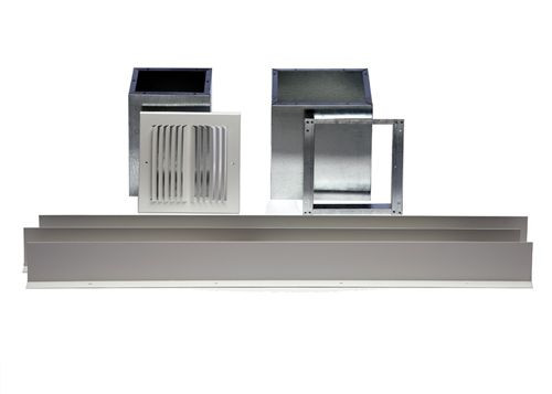 """Williams Furnace 6701, Side Outlet Register with 10"""" Boot for Top- and Direct-Vent Furnaces"""