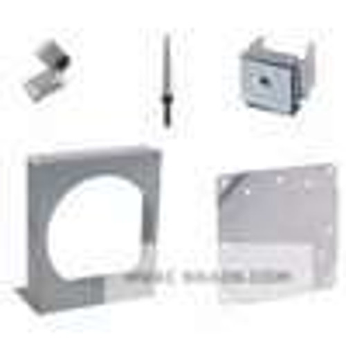 Dwyer Instruments A-298, Flat aluminum bracket for flush mounting Photohelic  & Capsuhelic  gages, 603A, 605, and 3000MR