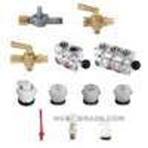 "Dwyer Instruments A-312, Shut off valve, brass, 1/8"" NPT to 1/4"" metal tubing"