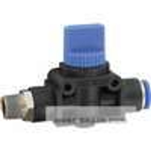 """Dwyer Instruments A-4001-3, Quick connect pneumatic valve, 8 mm tubing (OD) x 1/8"""" BSPT"""
