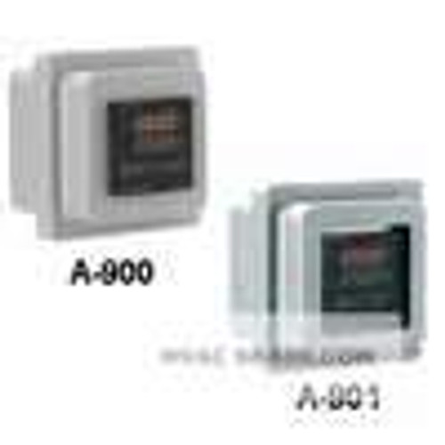 Dwyer Instruments A-901, Weatherproof enclosure, type 4X, clear plastic window with rear panel for mounting the control inside the enclosure