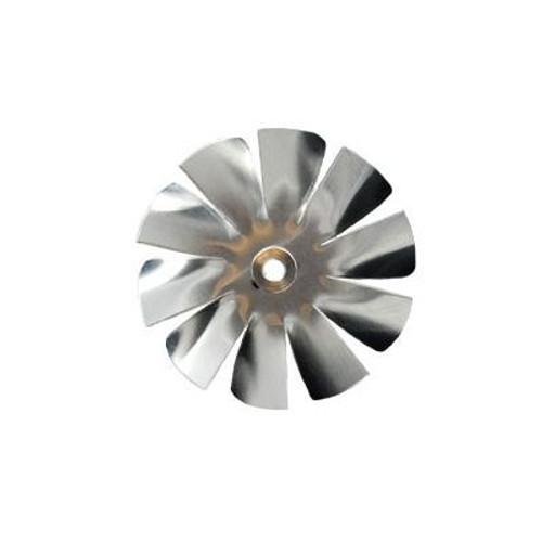 "Packard A61948, Small Aluminum Fan Blade 2"" Diameter 3/16"" Bore 10 Blade Intake Hub Location"