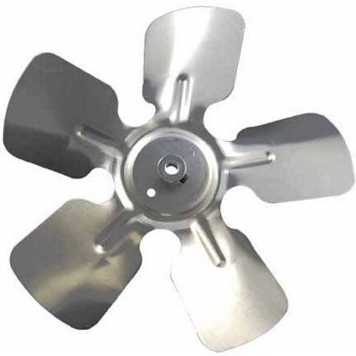 """Packard A85225, Small Aluminum Fan Blade With Hub 8"""" Diameter 1/4"""" Bore 30  Pitch CCW Rotation Discharge Hub Location"""