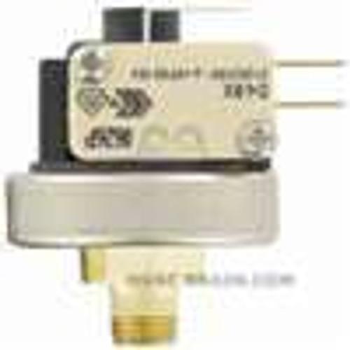 Dwyer Instruments A9-1, Pressure switch, range 29-87 psig (02-06 bar), deadband 29  ±15 psig (02  ±01 bar), max pressure 435 psig (30 bar), temperature limit 185 ¡F (85 ¡C), silicone diaphragm