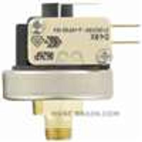 Dwyer Instruments A9-6, Pressure switch, range 58-1305 psig (50-90 bar), deadband 87  ±29 psig (06  ±02 bar), max pressure 1450 psig (100 bar), temperature limit 257 ¡F (125 ¡C), stainless steel diaphragm