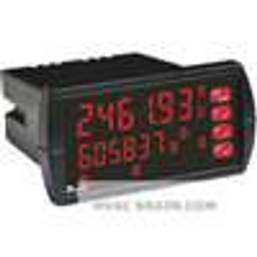 Dwyer Instruments APM-220, Analog panel meter, 12-24 VDC, 2 relays, no transmitter